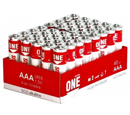 Батарейка SB ONE-Eco    LR03  Alkaline  (    40)(40)(960)