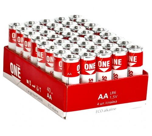 Батарейка SB ONE-Eco    LR6  Alkaline  (    40)(40)(720)