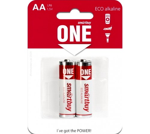Батарейка SB ONE-Eco    LR6  Alkaline  (  2BL)(24)(240)
