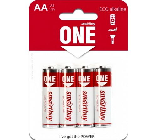 Батарейка SB ONE-Eco    LR6  Alkaline  (  4BL)(24)(480)