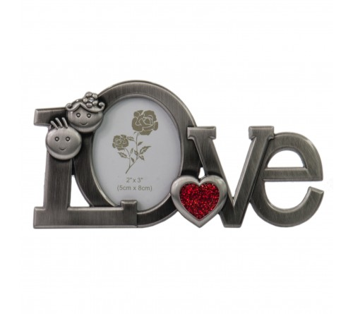 Ф/Рамка PLATINUM PF10971B 8x8 минирамка-сувенир, LOVE /12/36