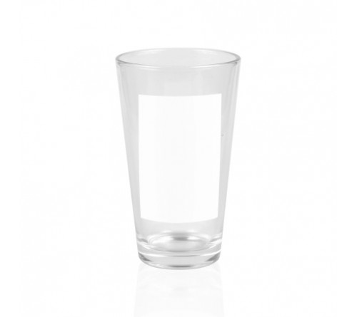Стакан стекло с белым полем для печати(6x9см) 500мл