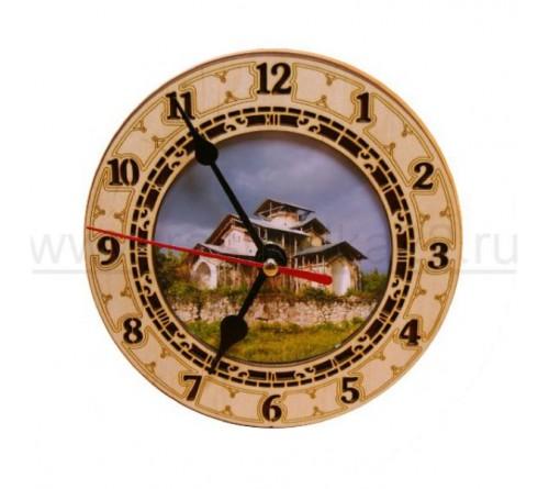 Часы деревянные под полиграфическую вставку
