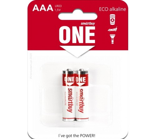 Батарейка SB ONE-Eco    LR03  Alkaline  (  2BL)(24)(240)