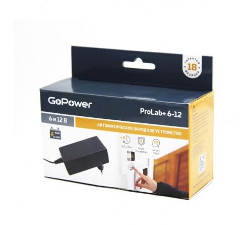 Зарядное устройство  GoPower ProLab+ 6-12 для свинцово-кислотных аккумуляторов 6 и 12V  1.5A