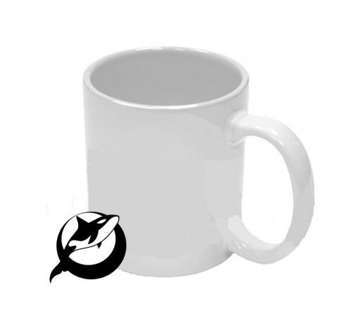 Кружка керамическая Белая 330 мл     (36)  Орка- BLACK   Повышенное качество