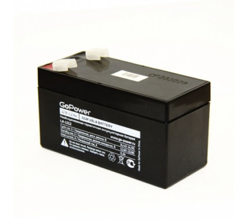 Аккумулятор GoPower VRLA 12v - 1,2 Ah    Свинц.- кислотный  AGM  (1 / 10)