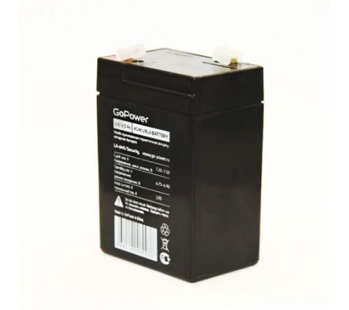 Аккумулятор GoPower VRLA  6v - 4,5 Ah / Security    Свинц.- кислотный  AGM  (1 / 10)