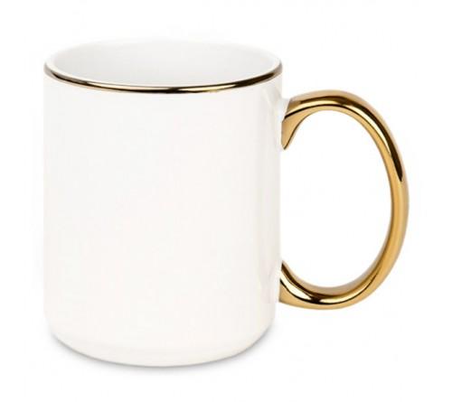 Кружка глиттерная градиент серебристо-голубая 330 мл