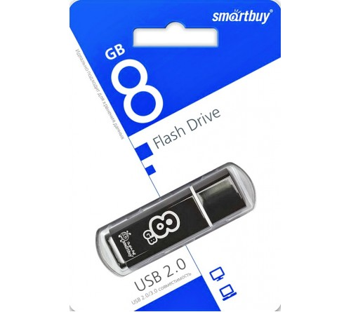 USB Флеш-Драйв    8Gb  Smart Buy Glossy