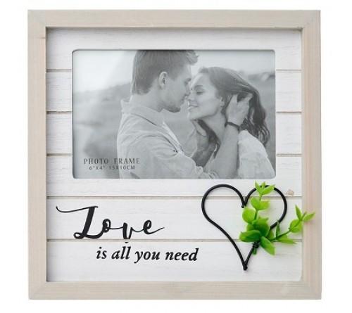 Ф/Рамка из МДФ  FFL - 865, 10x15 см., Love is all you need (12)