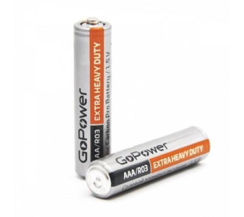Батарейка GoPower           R03 Shrink 4 Extra Heavy Duty (60)(1200)