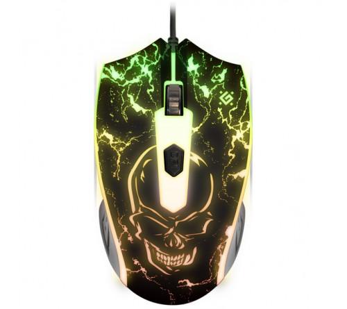 Мышь DEFENDER    GM 069   Overmatch   (USB, 2400dpi,Optical) Black Игровая Коробка