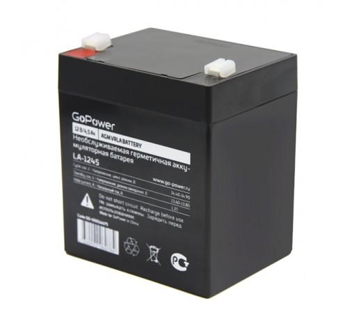 Аккумулятор GoPower VRLA 12v - 4,5 Ah    Свинц.- кислотный  AGM  (1 / 10)