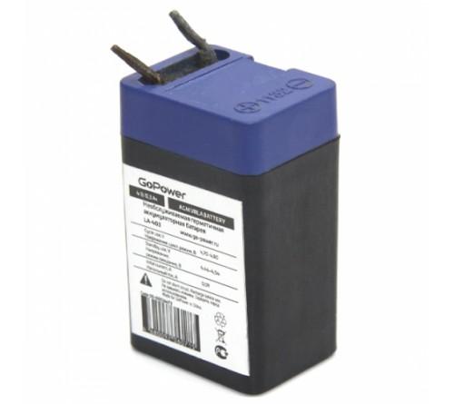 Аккумулятор GoPower VRLA  4v - 0,3 Ah    Свинц.- кислотный  AGM  (1 / 10)