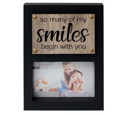 Ф/Рамка из МДФ  FFL - 878, 10x15 см., Smiles (12)