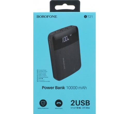 Внешний Аккумулятор Power Bank Borofone BT  21                            10000 mAh 2*USB 2.0A Black
