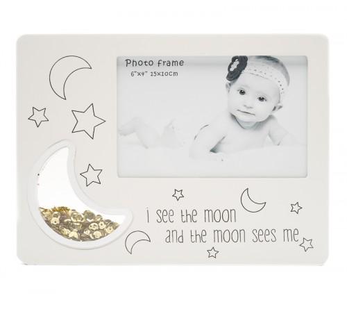 Ф/Рамка из МДФ  FFL - 811, 10x15 см.,   I see the moon..., серая