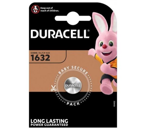 Батарейка DURACELL    CR1632 BL1 Lithium 3V  ( 1/10/100)