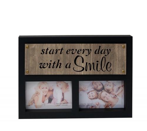 Ф/Рамка из МДФ  FFL - 872 на 2 фото 10*15 см., Smile (12)