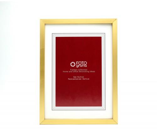 Ф/Рамка  FFM - 5013G  Металл 15*21 Золотая