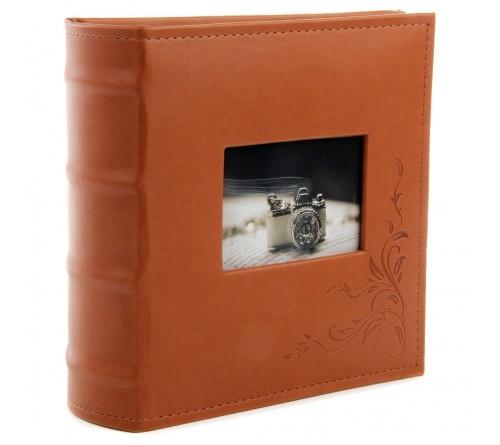 Ф/Альбом  Pioneer  (117411) 300 фото, 2 ф.на стр. Книжный переплёт, Мemo  Leather                   (12)