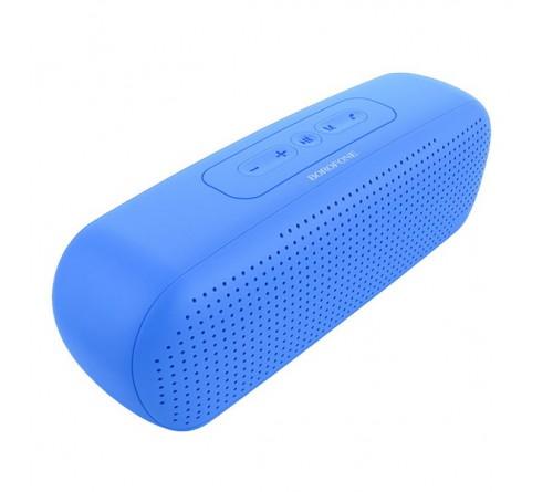 Миниспикер Borofone  BR 11  Bluetooth FM,MP3 USB,microSD,AUX Blue            1200mAh
