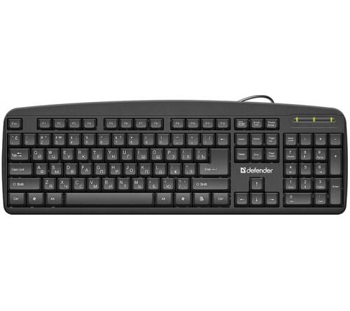 Клавиатура DEFENDER    910    Office              (USB)         Black