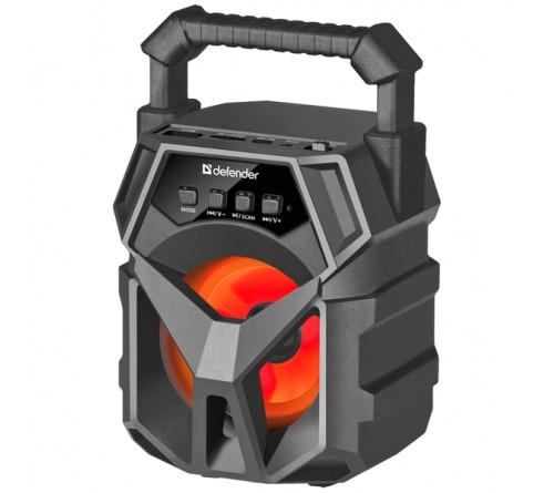 Миниспикер DEFENDER  G 98    Bluetooth FM,MP3 USB,microSD,AUX Black          1200mAh 5W