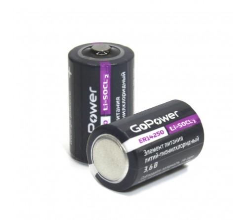 Элемент питания GoPower 14250 1/2AA PC1 Li-SOCl2 3.6V (1/10/500)