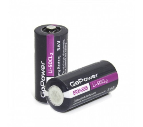Элемент питания GoPower 14335 2/3AA PC1 Li-SOCl2 3.6V (1/10/500)