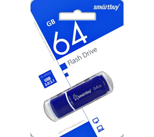 USB Флеш-Драйв  64Gb  Smart Buy Crown USB 3.0