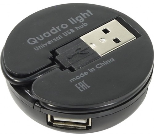 USB-концентратор DEFENDER QUADRO LIGHT USB 2.0 4 порта