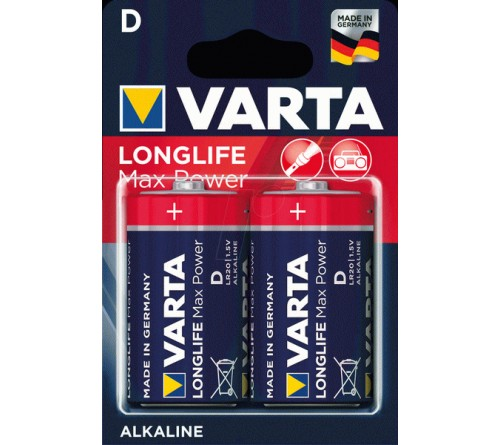 Батарейка VARTA             LR-20  (2BL)(20)(100)  Max Tech/ L. Max Power
