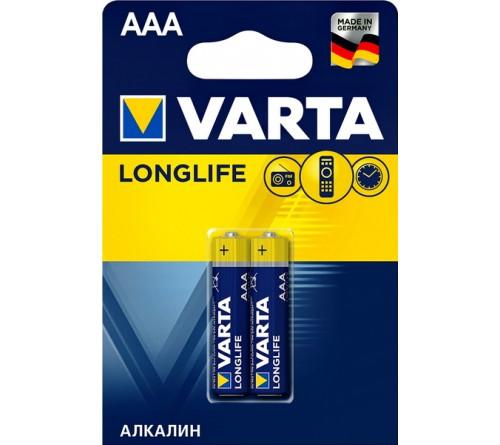 Батарейка VARTA             LR03  Alkaline  (  2BL)(20)(100) Longlife