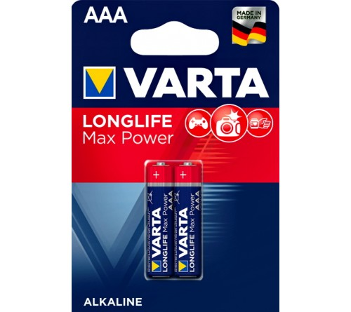 Батарейка VARTA             LR03  Alkaline  (  2BL)(20)(100) Max Tech/ L Max Power