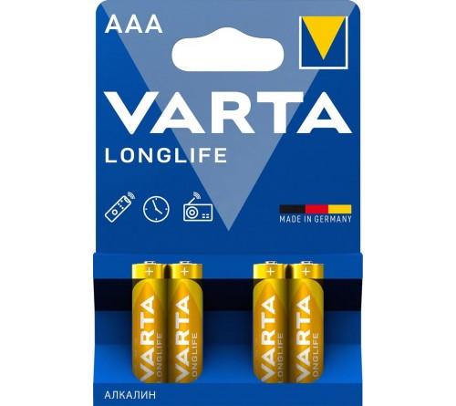 Батарейка VARTA             LR03  Alkaline  (  4BL)(40)(200) Longlife