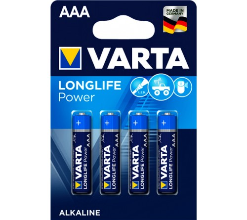 Батарейка VARTA             LR03  Alkaline  (  4BL)(40)(200) High Energy/ L Power