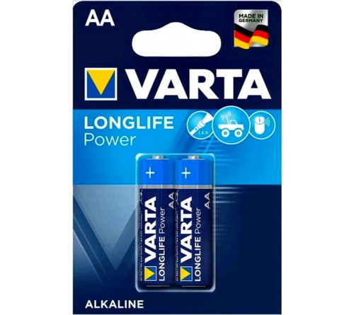 Батарейка VARTA             LR6  Alkaline  (  2BL)(40)(200)  High Energy/L. POWER