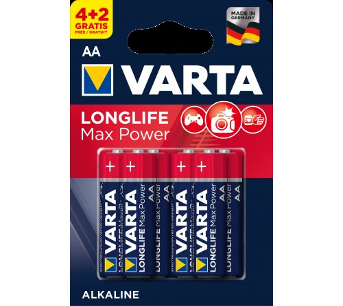 Батарейка VARTA             LR6  Alkaline  (  6BL)(60)(300)  4706  Max Tech/ L. MAX POWER