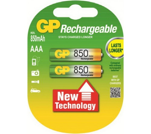 Аккумулятор GP               R03   (  850mAh)(2BL)(28)