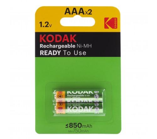 Аккумулятор KODAK        R03   (  850mAh)(2BL)(20) Pre-Charged