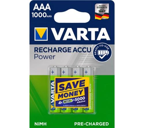 Аккумулятор VARTA        R03   (1000mAh)(4BL)(40)