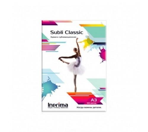Бумага сублимационная Inprima, Subli Classic A3 100л