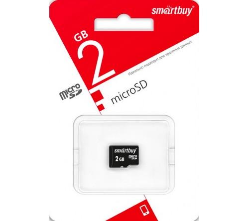 Карта памяти  MicroSD            2Gb  SmartBuy  без Адаптера