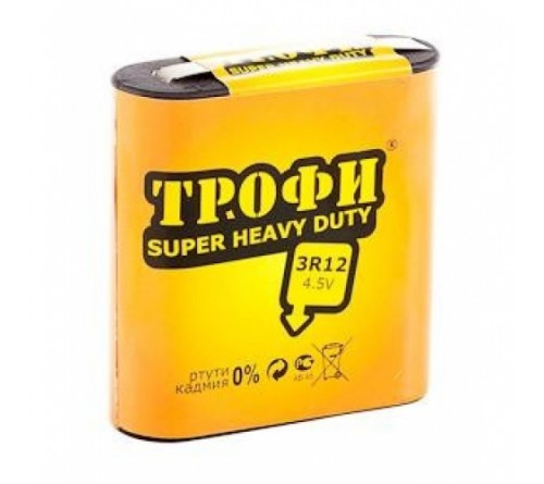 Батарейка Квадрат  ТРОФИ        3R12  (10)(100)