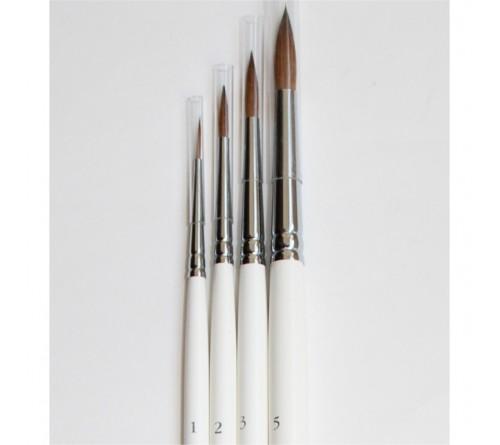 Кисть Невская Палитра Колонок круглая длинная ручка № 8     112308