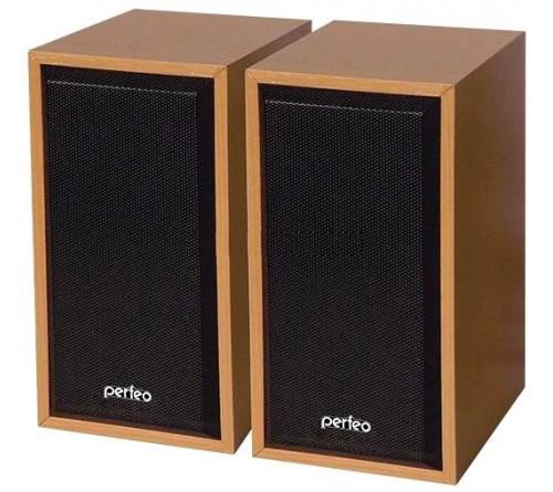 Колонки Perfeo PF-  084 WD Cabinet       2.0 (2*   3W)  Дерево Бук,USB.для Ноутбука