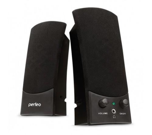 Колонки Perfeo PF-  210 Uno                    2.0 (2*   3W)  Black Пластик,USB.для Ноутбука
