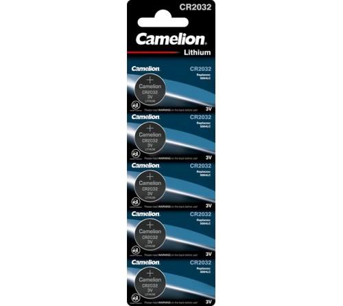 Батарейка CAMELION        CR2032  ( 5BL)(  50)(1800)